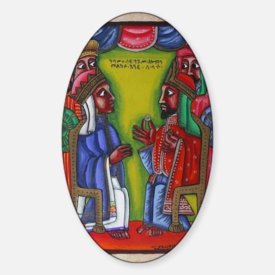 Ethiopian orthodox Queen of Saba Ic Sticker (Oval)