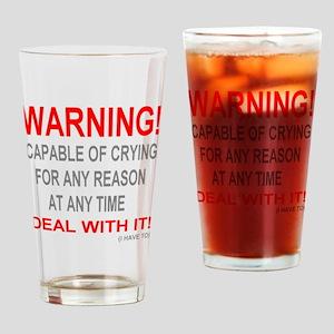 neg_crying Drinking Glass