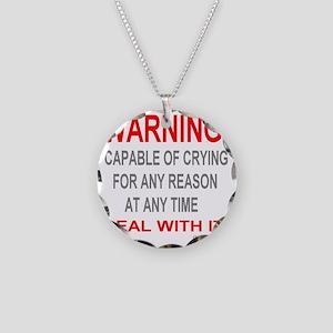 neg_crying Necklace Circle Charm
