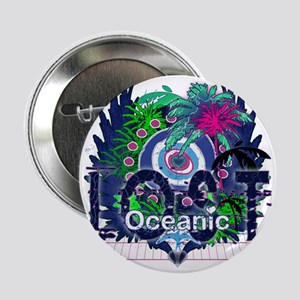 """Oceanic Logo with Palm Trees and Hear 2.25"""" Button"""