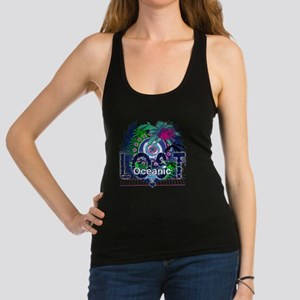 Oceanic Logo with Palm Trees an Racerback Tank Top