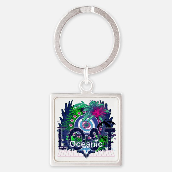 Oceanic Logo with Palm Trees and H Square Keychain