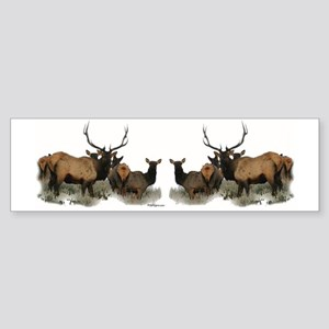 Elk herd Sticker (Bumper)