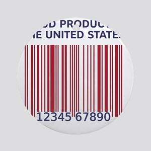 Barcode United States Round Ornament