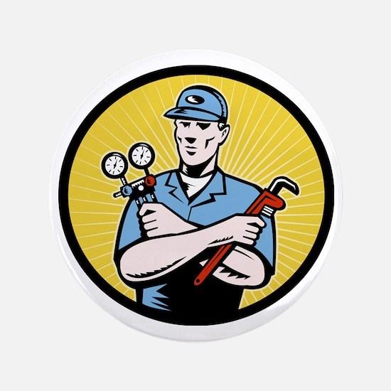 """Nrepairman serviceman holding ac manif 3.5"""" Button"""