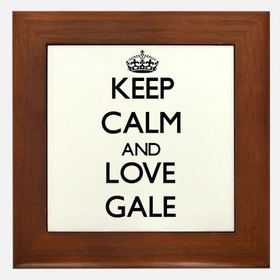 Keep Calm and Love Gale Framed Tile