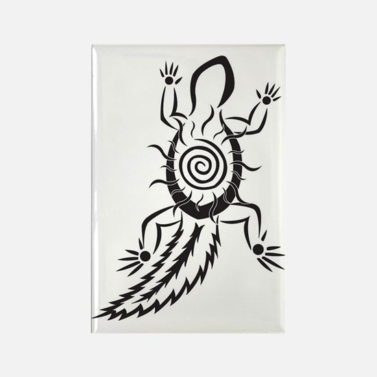 Helois Tribal Drawing Rectangle Magnet