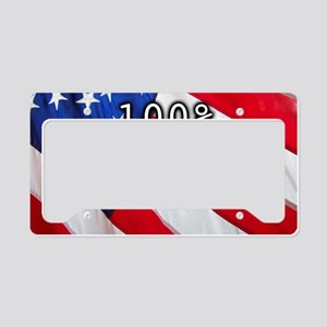 Unhyphenated American License Plate Holder