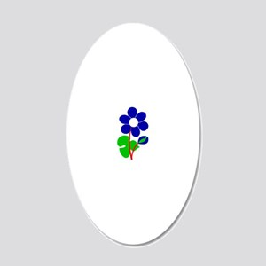 Anemone 20x12 Oval Wall Decal