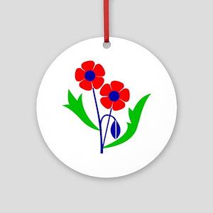 Poppy Round Ornament