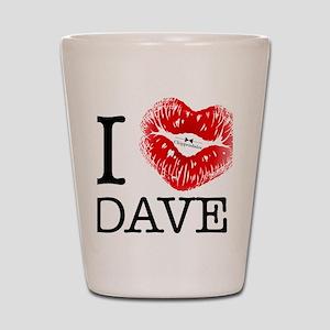 i_heart_dave Shot Glass