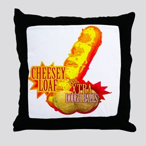 CHEESEY LOAF T-SHIRT Throw Pillow