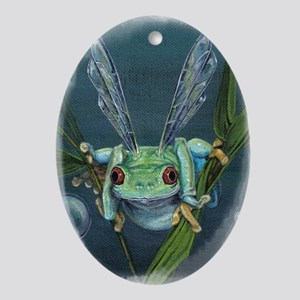 Wishing Frog Oval Ornament