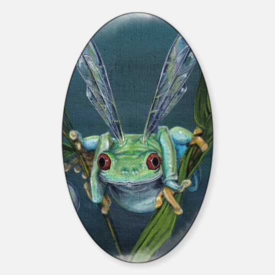 Wishing Frog Sticker (Oval)