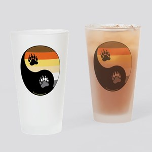 Bear-Pride-Ying-Yang Drinking Glass