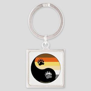 Bear-Pride-Ying-Yang Square Keychain