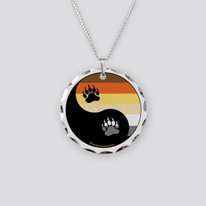 Bear-Pride-Ying-Yang Necklace Circle Charm