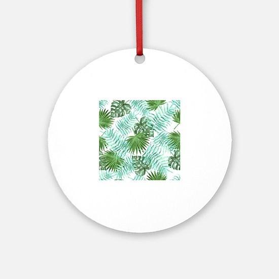 Unique Pineapple Round Ornament