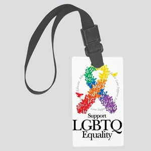 LGBTQ-Butterfly-Ribbon Large Luggage Tag
