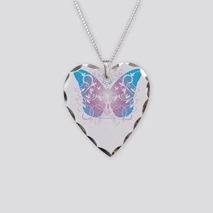 Transgender-Butterfly-A-blk Necklace Heart Charm