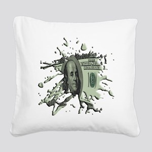100Blot Square Canvas Pillow