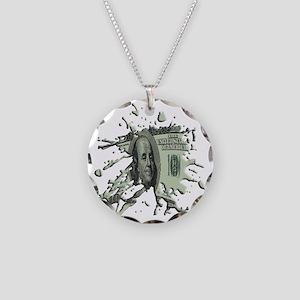 100Blot Necklace Circle Charm