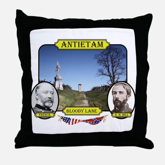 Antietam-Bloody Lane Throw Pillow