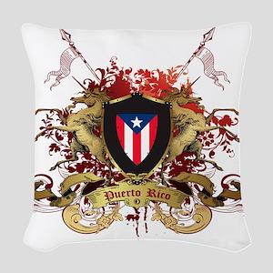 puerto rico Woven Throw Pillow