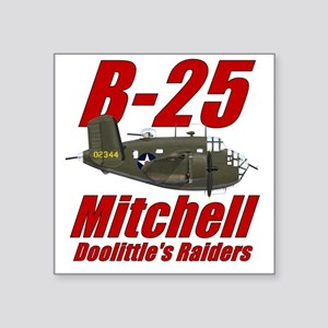 "B25 Doolittes RaidersTee Square Sticker 3"" x 3"""