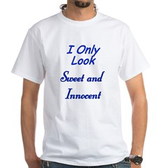 Twisted Imp Only Look Sweet and Innocent White T-S