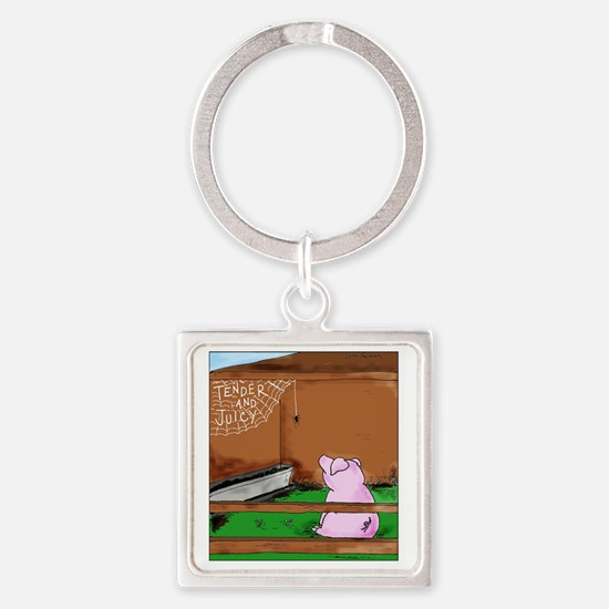 CharlottewilburColor Square Keychain