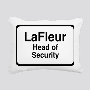 lafleurBLK Rectangular Canvas Pillow