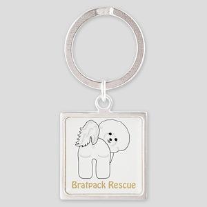Bratpack1TK Square Keychain