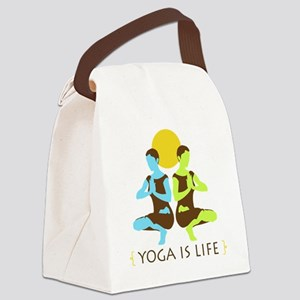 Yoga-is-life-2 Canvas Lunch Bag