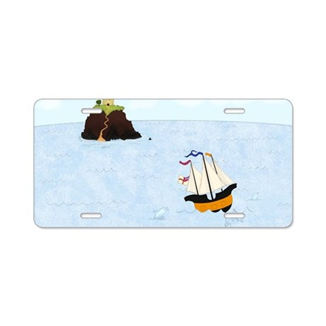 Sailing by the Castle 9 x 1 Aluminum License Plate