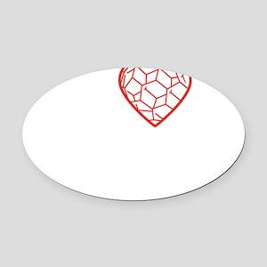 I heart Nano tshirt transparent Oval Car Magnet