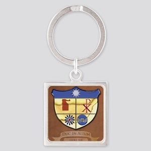 Shield-gussied-10x10_apparel Square Keychain