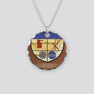 Shield-gussied-10x10_apparel Necklace Circle Charm