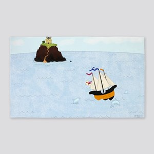 Sailing by the Castle 3'x5' Area Rug