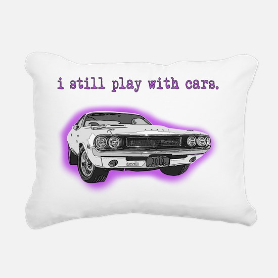 dodge_challenger_purple Rectangular Canvas Pillow