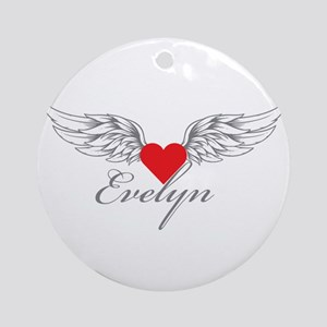 Angel Wings Evelyn Ornament (Round)