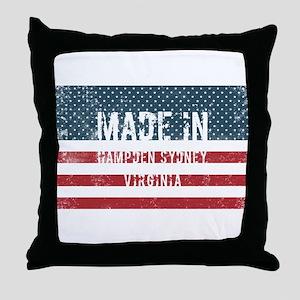 Made in Hampden Sydney, Virginia Throw Pillow