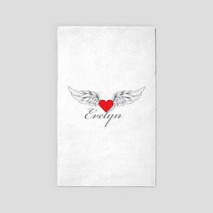 Angel Wings Evelyn 3'x5' Area Rug