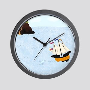 Sailing by the Castle Square Wall Clock