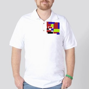 colorful rectangles Golf Shirt