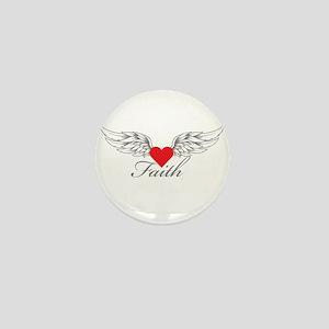 Angel Wings Faith Mini Button