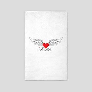 Angel Wings Faith 3'x5' Area Rug