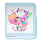 Lijiang China Map baby blanket