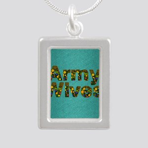 armywivessq Silver Portrait Necklace