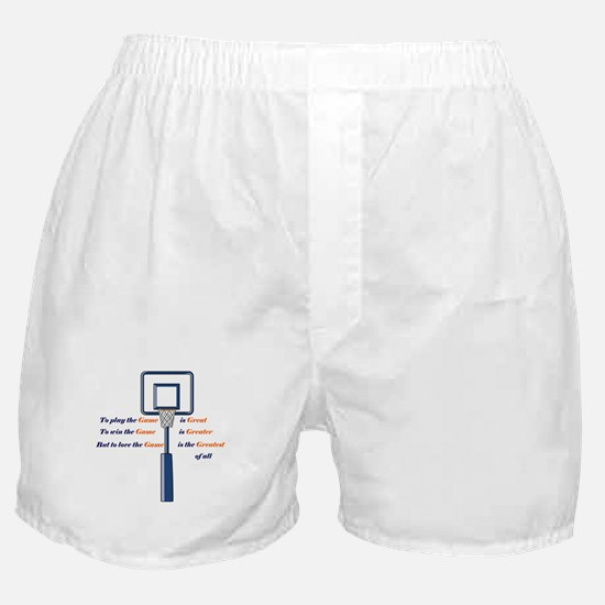 Basketball Love the Game Boxer Shorts